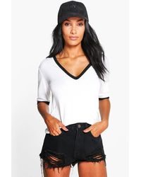 Boohoo Womens Extreme Rip Denim Booty Shorts - Black