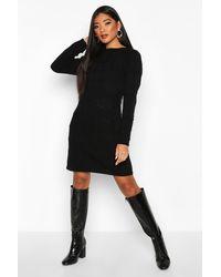 Boohoo - Cable Knit Mini Dress - Lyst