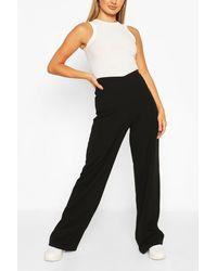 Boohoo Pantalones Acampanados Básicos De Cintura Alta - Morado