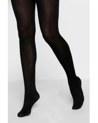 0975935c85292 Boohoo Plus Large Scale Fishnet Diamond Tights in Black - Lyst