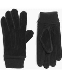 Boohoo - Real Suede Gloves - Lyst