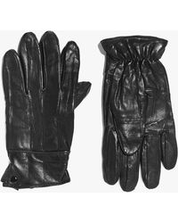 Boohoo - Leather Gloves With Sheepskin Lining - Lyst