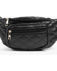 Boohoo | Plus Ariel Quilted Front Zip Bum Bag | Lyst