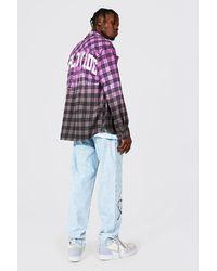 BoohooMAN Relaxed-Fit Jeans mit Stacheldraht-Motiv - Blau
