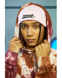 BoohooMAN Dreamer Embroidered Beanie - Pink