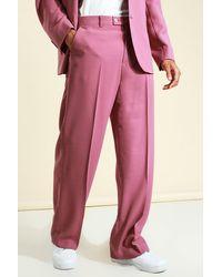 BoohooMAN Pantalon de costume large ajusté - Rose