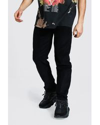 BoohooMAN Relaxed Fit Cordhose - Schwarz