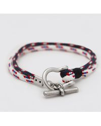 BoohooMAN Armband mit Kordel und Knebeldetail - Mehrfarbig