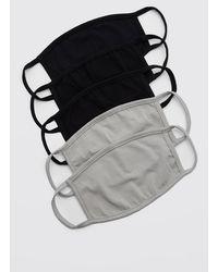 BoohooMAN 5 Pack Multi Plain Fashion Masks - Black