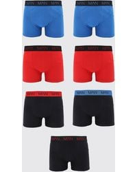 BoohooMAN 5 Pack MAN Dash Mixed Colour Mid Length Trunk - Rouge