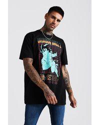 BoohooMAN Oversized Dragon Ball Z License T-shirt - Black