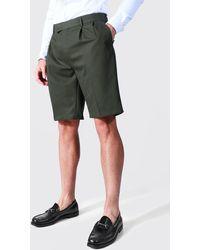 BoohooMAN Lockere, lange Shorts - Grün