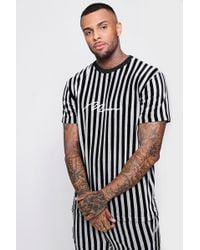 BoohooMAN - Loose Fit Man Signature Velour T-shirt - Lyst