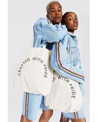 BoohooMAN Pride Crafted Tote Bag - White