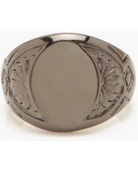 Boohoo Classic Signet Ring - Gray