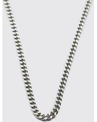 BoohooMAN Thin Chain Necklace - Metallic