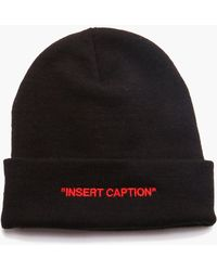 Boohoo - Man Certified Insert Caption Embroidered Beanie - Lyst