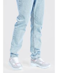 BoohooMAN Wildleder und Mesh Sneaker - Blau