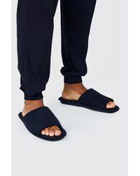 BoohooMAN Jersey Open Toe Slipper - Black
