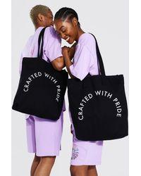 BoohooMAN Pride Crafted Tote Bag - Black
