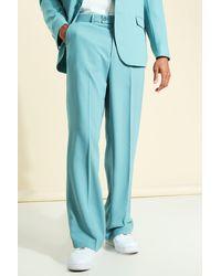 BoohooMAN Pantalon large ajusté en maille douce - Bleu