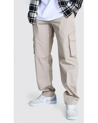 BoohooMAN Relaxed Fit Cargo Chino Trousers - Mehrfarbig
