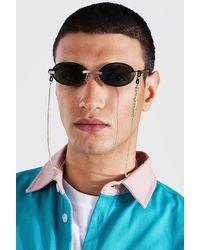 BoohooMAN Man Official Sonnenbrillen-Kette - Mettallic