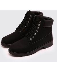 BoohooMAN Worker Boots - Black