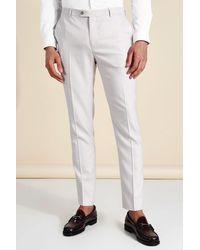 BoohooMAN Pantalon de costume skinny à carreaux - Blanc