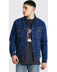 BoohooMAN Regular Fit Denim Jacket - Blue