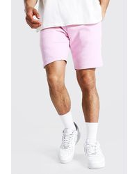 BoohooMAN Mittellange Basic Jersey-Shorts - Pink