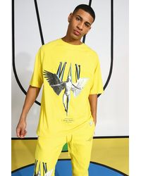 BoohooMAN - Eagle Printed T-shirt - Lyst