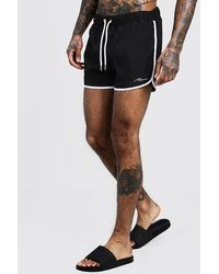 BoohooMAN Man Signature Runner Swim Short - Black