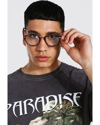 BoohooMAN Clear Round Readers - Brown