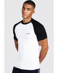 BoohooMAN Muscle Fit Original Man Raglan T-shirt - Black