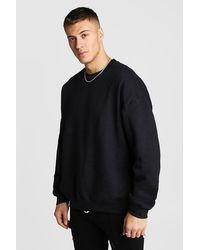 BoohooMAN Oversized Sweat With Back Graphic Print - Schwarz