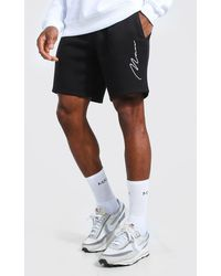 BoohooMAN - Man Signature Embroidered Jersey Shorts - Lyst