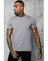 BoohooMAN Basic Crew Neck T Shirt - Gray