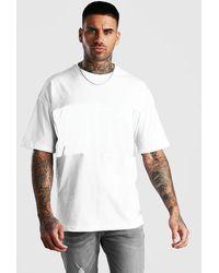 BoohooMAN T-shirt oversize à empiècement réfléchissant marque MAN - Blanc