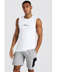 BoohooMAN Man Signature Muscle Fit Tank - White