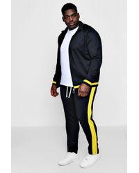 Boohoo - Big And Tall Skinny Fit Sports Tracksuit - Lyst