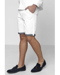 Boohoo   Chino Shorts With Turn Up   Lyst