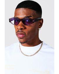 BoohooMAN Sonnenbrille aus recyceltem Plasitk - Grau