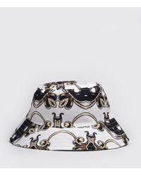 BoohooMAN Baroque Print Bucket Hat - Black