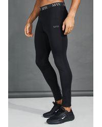 BoohooMAN Active Gym Compression Tight - Black
