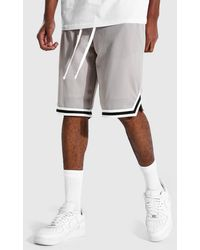 BoohooMAN Tall Mesh Basketball Shorts With Tape - Multicolour