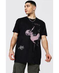 BoohooMAN Oversized Elton John License T-shirt - Noir