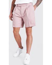 BoohooMAN Lockere, mittellange Shorts - Pink
