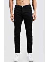 BoohooMAN Slim Fit Rigid Denim Jeans - Black