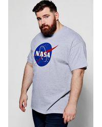 Boohoo - Big And Tall Nasa Print T-shirt - Lyst